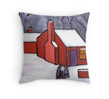 The little red house Throw Pillow