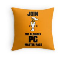 Join the PC Master Race Throw Pillow