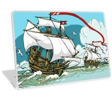 The Great Discoveries - Three Galleons Sailing Laptop Skin