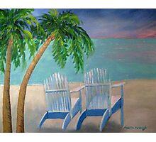 Poppy's Palm Trees Photographic Print
