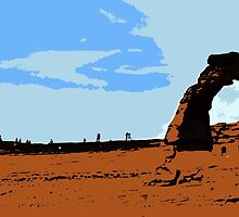 A Distant Look at Delicate Arch by Nathan Jekich