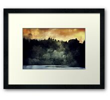 The Trees on Fire. Framed Print