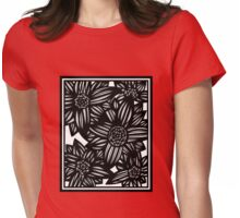 Oblivion Flowers Blue Yellow White Womens Fitted T-Shirt