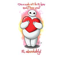 Baymax love you! - Happy Valentine's Day by SilveryDreams