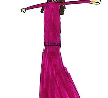 A Lady In Fuchsia by Fotis