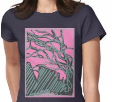 tree silhouettes (metallic green) Womens Fitted T-Shirt