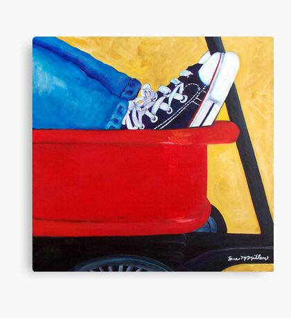 Learning to Tie Canvas Print