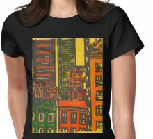 view from the moma (yellow) Womens Fitted T-Shirt