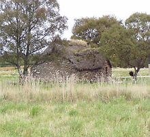 Old Cottage on Culloden moor by mike  jordan.