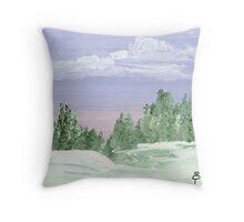 Snow Paradise Throw Pillow