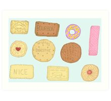Best of British Biscuits. Art Print