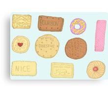 Best of British Biscuits. Canvas Print