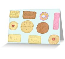 Best of British Biscuits. Greeting Card