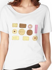 Best of British Biscuits. Women's Relaxed Fit T-Shirt