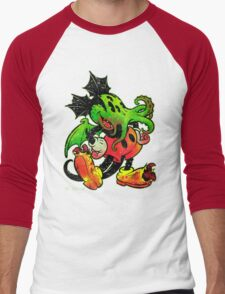 MICKHULHU MOUSE (color) Men's Baseball ¾ T-Shirt