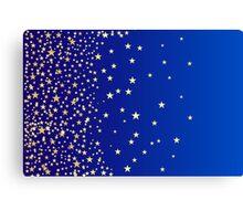 Star Shine Background Blue  Canvas Print