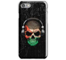 Dj Skull with Jordanian Flag iPhone Case/Skin