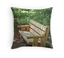 """Trailside Bench"" Throw Pillow"