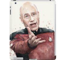 Annoyed Picard Meme Watercolor iPad Case/Skin