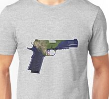 DoubleStar M1911, Earth Gun, Pistol, 2nd Amendment, USA Unisex T-Shirt