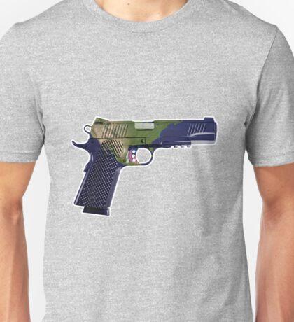 DoubleStar M1911, Earth Gun, Pistol, 2nd Amendment, USA Unisex T-Shirt