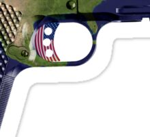 DoubleStar M1911, Earth Gun, Pistol, 2nd Amendment, USA Sticker