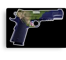 DoubleStar M1911, Earth Gun, Pistol, 2nd Amendment, USA Canvas Print