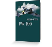 focke-wulf fw 190 Greeting Card