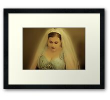 Heather is a Beautiful Bride. Framed Print