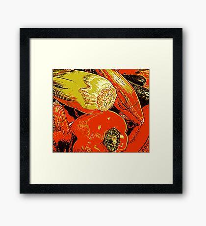 Vegetable Abstract Framed Print