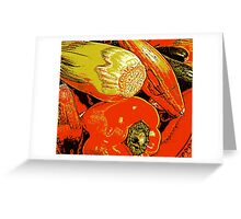Vegetable Abstract Greeting Card