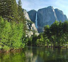 Yosemite Falls Reflections by Stephen Vecchiotti