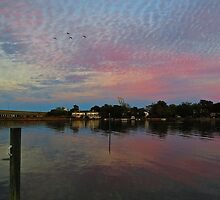 Watercolor Sunset by photroen