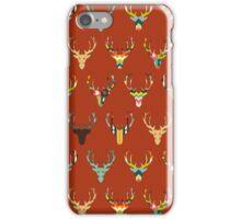 retro deer head russet iPhone Case/Skin