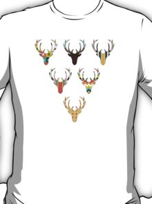 retro deer head russet T-Shirt