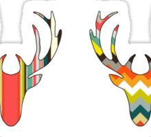 retro deer head russet Sticker
