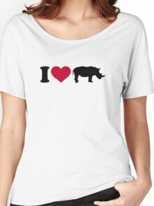 I loves Rhinos Women's Relaxed Fit T-Shirt