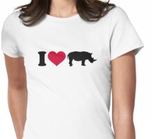 I loves Rhinos Womens Fitted T-Shirt