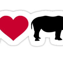 I loves Rhinos Sticker