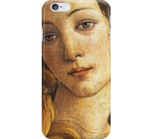 The Birth of Venus - Face Detail iPhone Case/Skin