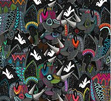 rhino party by Sharon Turner