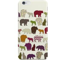 bear wolf geo party iPhone Case/Skin