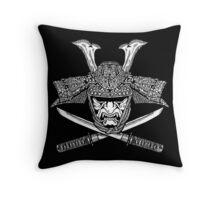 Samurai Jolly Roger Throw Pillow