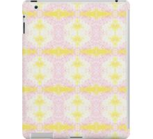 yellow and pink scribble iPad Case/Skin