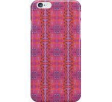 purple and blue square spirals iPhone Case/Skin
