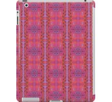 purple and blue square spirals iPad Case/Skin