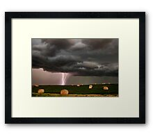 Prairie Storm Clouds ominous weather Saskatchewan Canada Framed Print