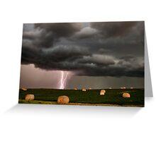 Prairie Storm Clouds ominous weather Saskatchewan Canada Greeting Card