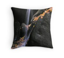 simple waterfall in autumn Throw Pillow