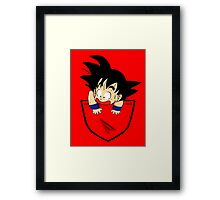 Pocket Goku Framed Print
